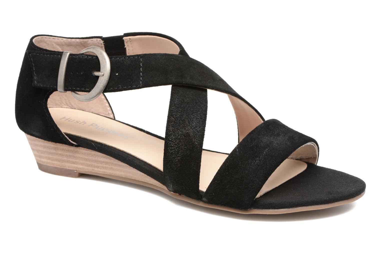 Sandales et nu-pieds Hush Puppies Kaly Noir vue détail/paire