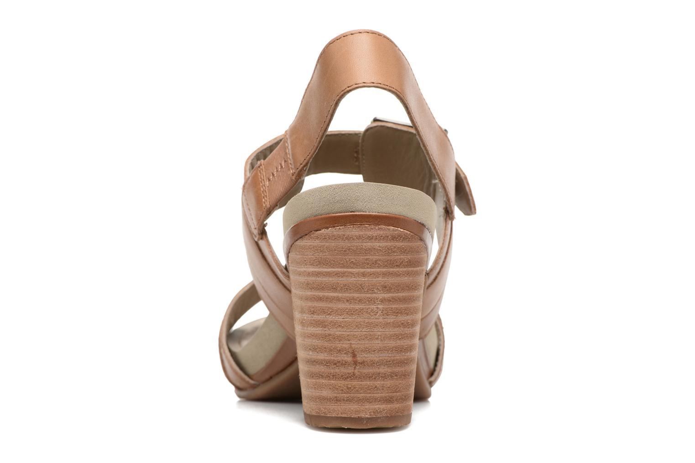 Sandales et nu-pieds Hush Puppies Leonie Marron vue droite