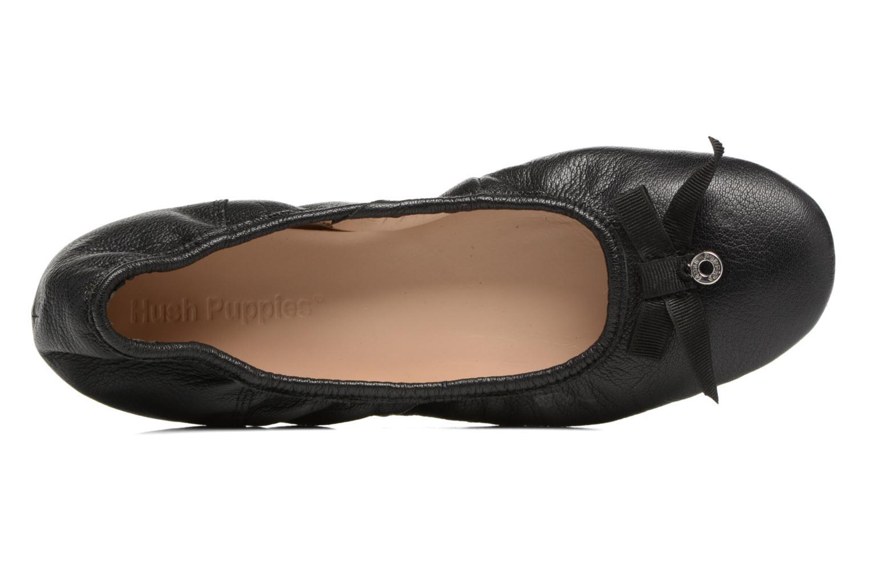 Ballerines Hush Puppies Lilas Noir vue gauche