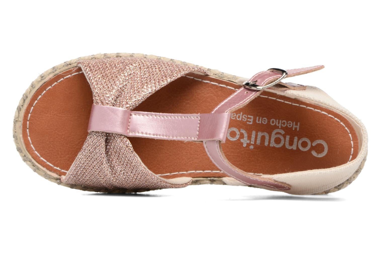 Sandales et nu-pieds Conguitos Dulce Rose vue gauche