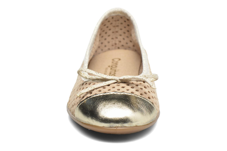 Ballerines Conguitos Emilia Or et bronze vue portées chaussures