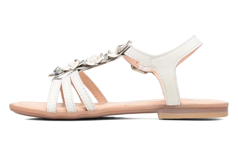 Sandales et nu-pieds Conguitos Eugenia Blanc vue face