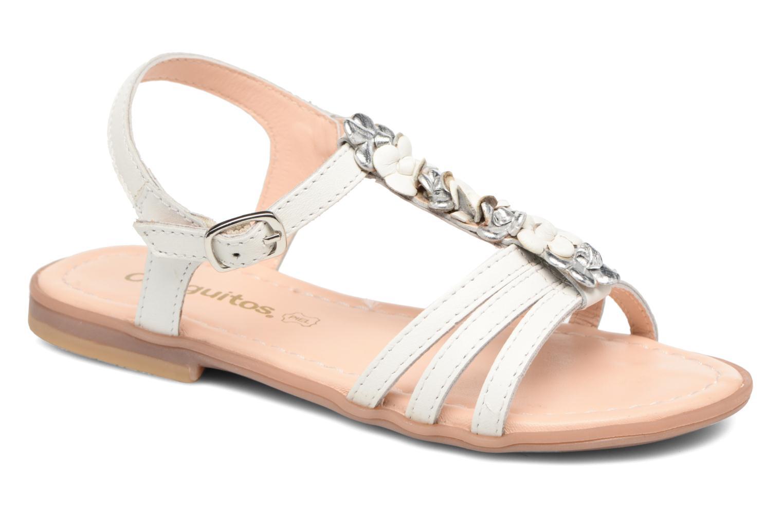 Sandales et nu-pieds Conguitos Eugenia Blanc vue détail/paire