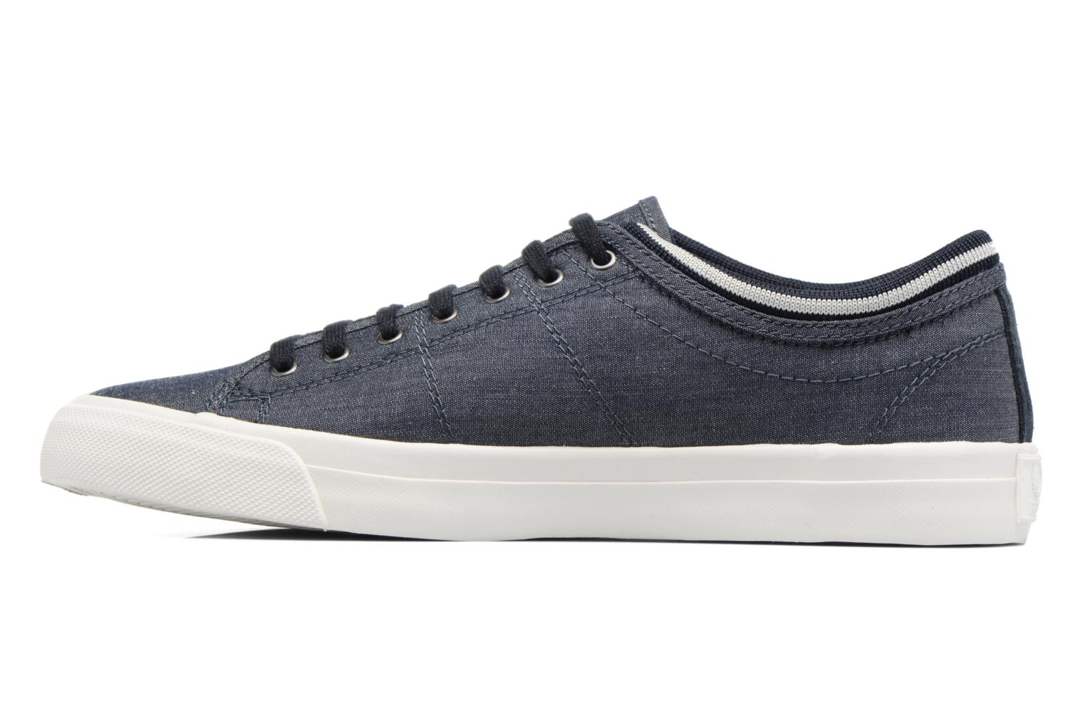 Baskets Fred Perry Kendrick Chambray Bleu vue face