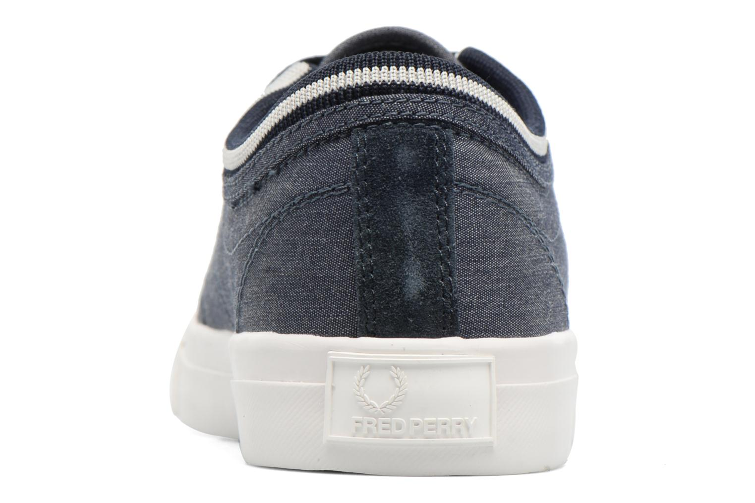 Baskets Fred Perry Kendrick Chambray Bleu vue droite