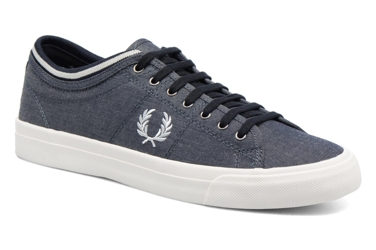 Baskets Fred Perry Kendrick Chambray Bleu vue détail/paire