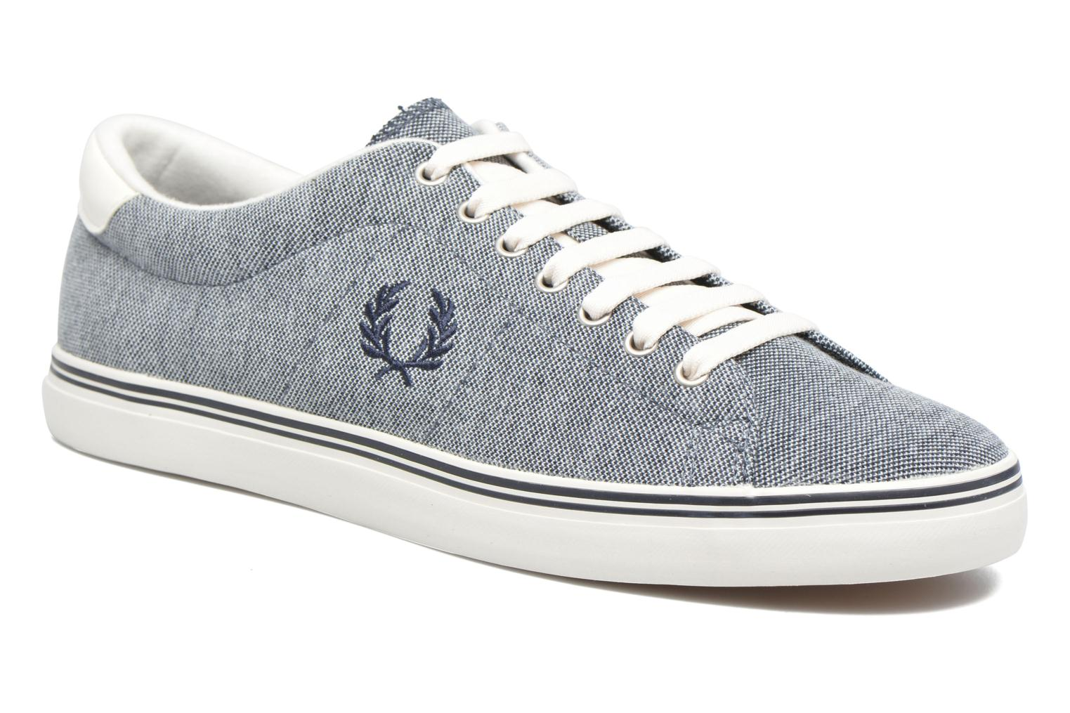 Baskets Fred Perry Underspin Oxford Bleu vue détail/paire