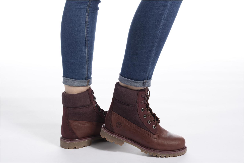 Stiefeletten & Boots Timberland 6in Premium Double weinrot ansicht von unten / tasche getragen