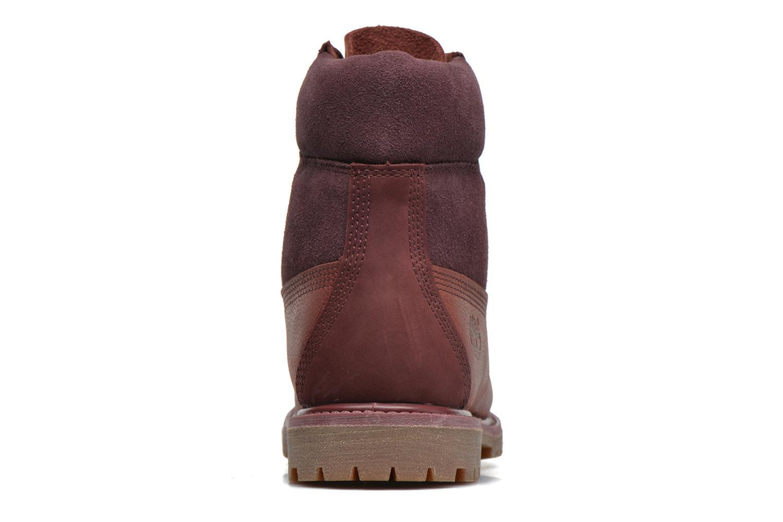 Stiefeletten & Boots Timberland 6in Premium Double weinrot ansicht von rechts