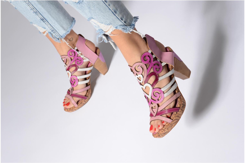 Sandales et nu-pieds Laura Vita Vexe Rose vue bas / vue portée sac