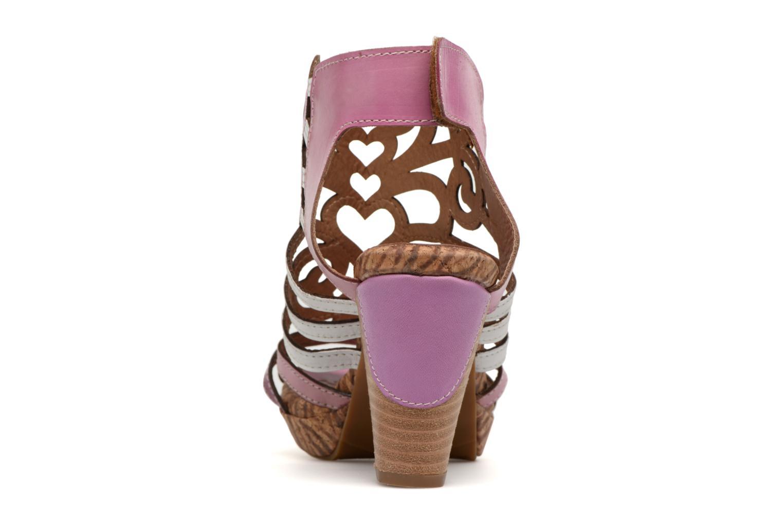 Sandales et nu-pieds Laura Vita Vexe Rose vue droite