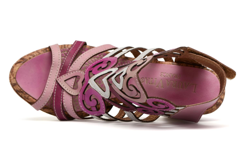 Sandales et nu-pieds Laura Vita Vexe Rose vue gauche