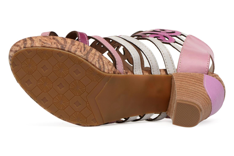 Sandales et nu-pieds Laura Vita Vexe Rose vue haut