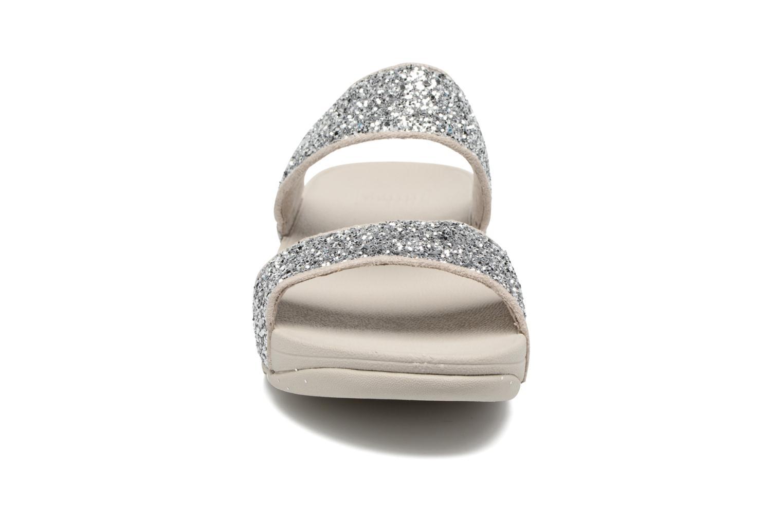 Mules et sabots FitFlop Glitterball Slide Argent vue portées chaussures
