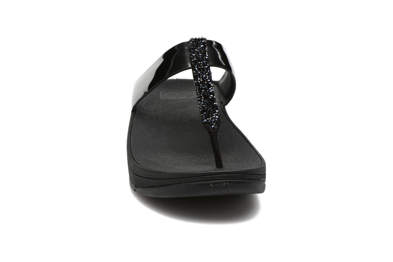 Flip flops FitFlop Fino Toe-Post Black model view