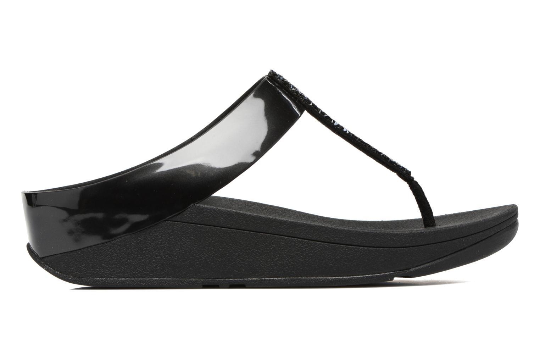 Flip flops FitFlop Fino Toe-Post Black back view