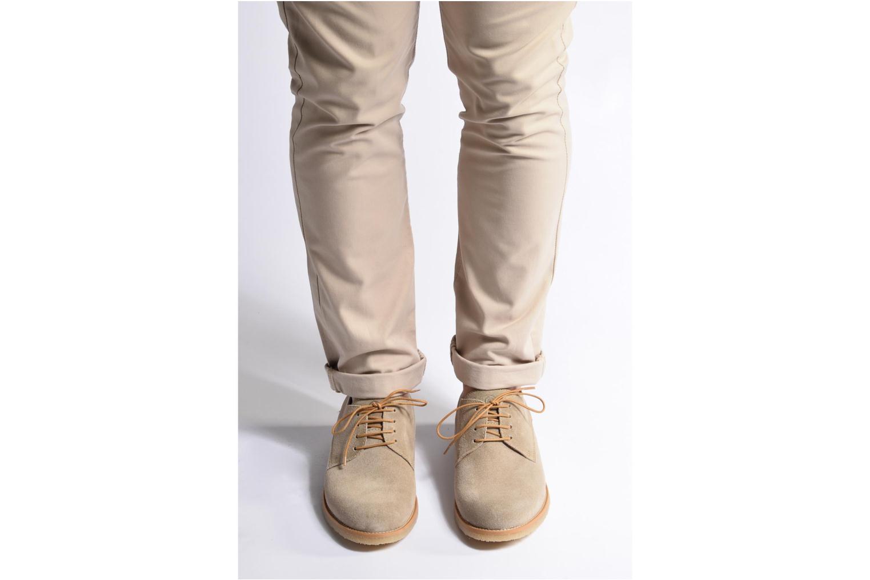 Chaussures à lacets Mr SARENZA Soldn Bleu vue bas / vue portée sac