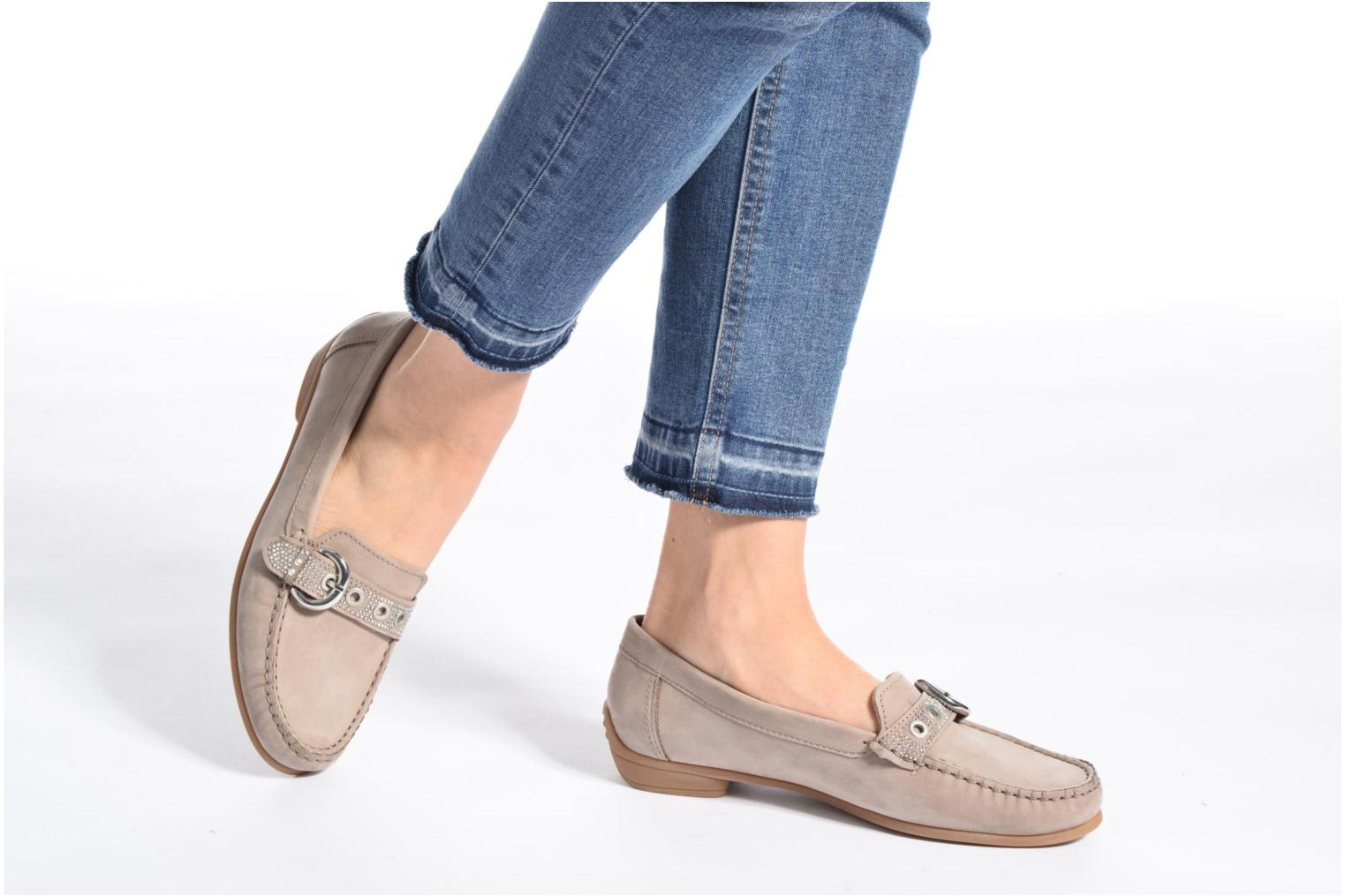 Loafers Ara Boston 40717 Beige view from underneath / model view