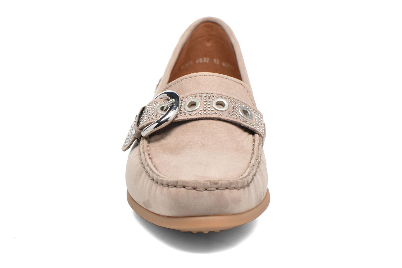 Mocassins Ara Boston 40717 Beige vue portées chaussures