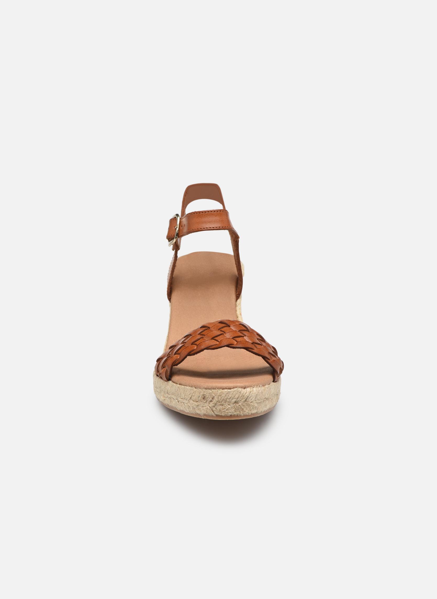 Espadrilles Georgia Rose Itresse Marron vue portées chaussures