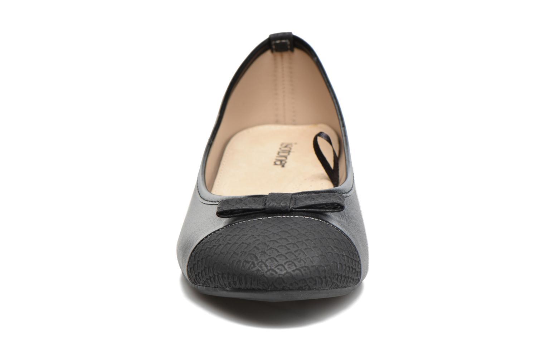 Ballerines Isotoner Ballerine animal Noir vue portées chaussures