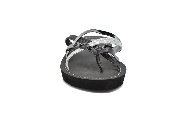 Tongs Isotoner Tong multilanières Noir vue portées chaussures
