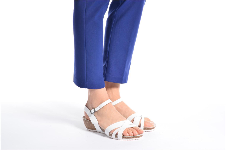 Sandales et nu-pieds TBS Sabinne Blanc vue bas / vue portée sac