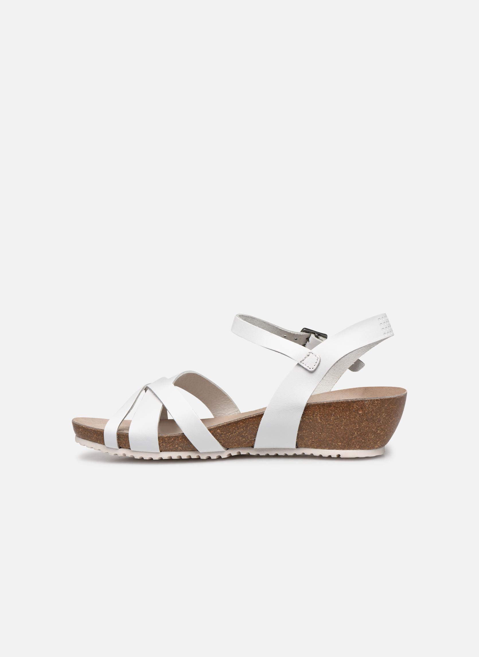 Sandales et nu-pieds TBS Sabinne Blanc vue face