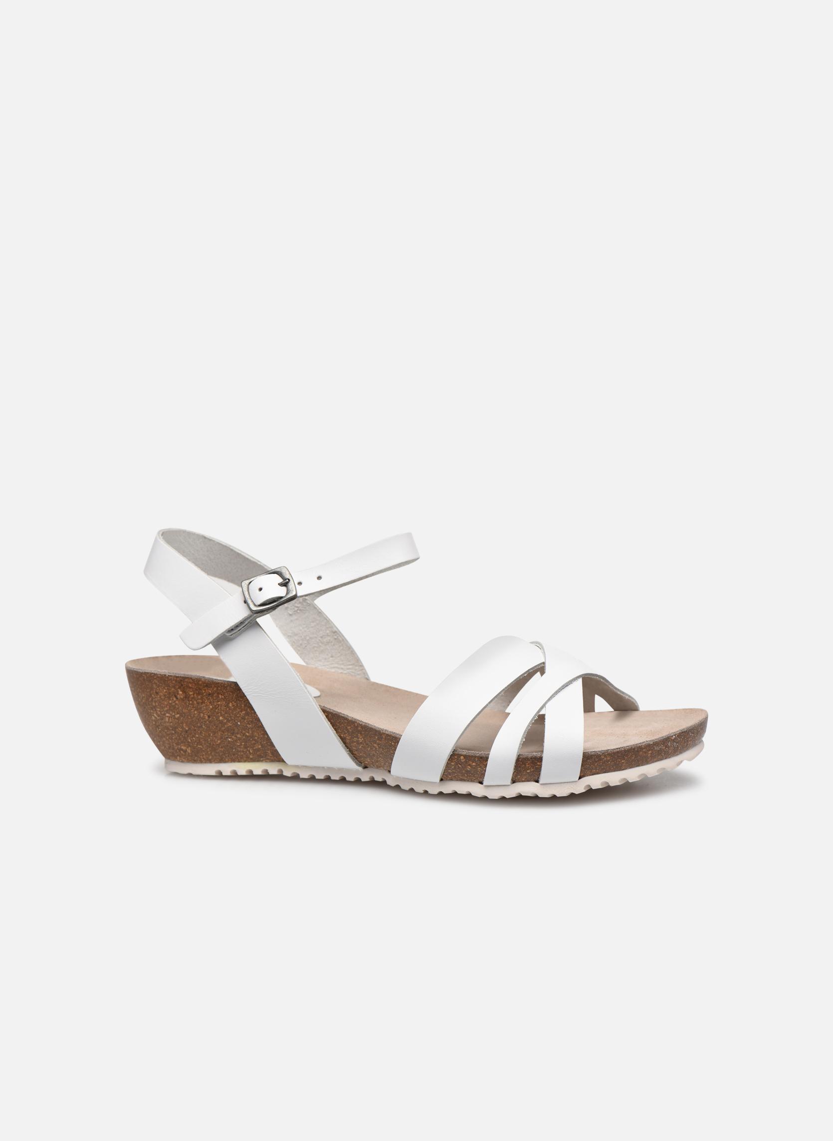 Sandales et nu-pieds TBS Sabinne Blanc vue derrière