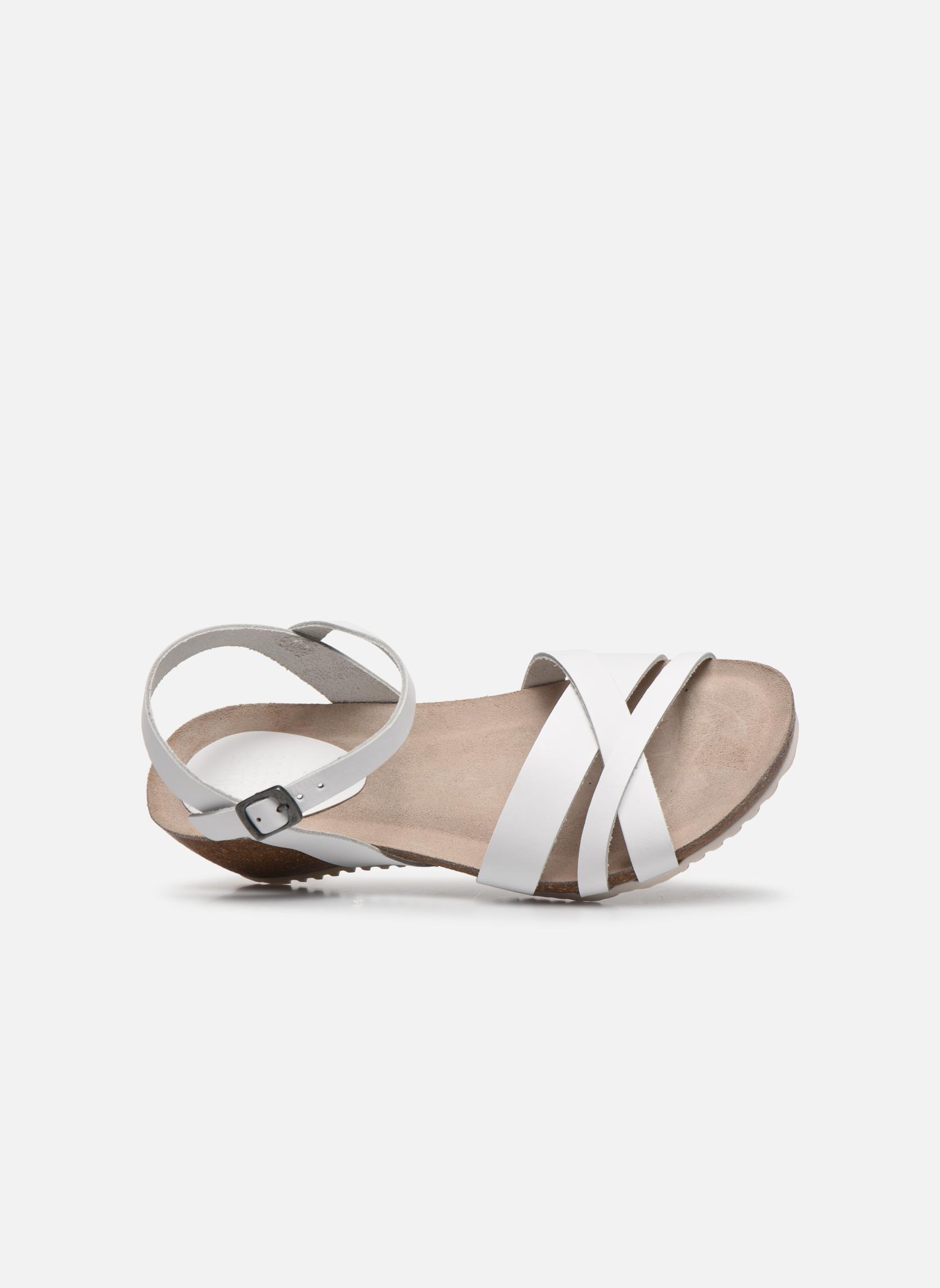 Sandales et nu-pieds TBS Sabinne Blanc vue gauche