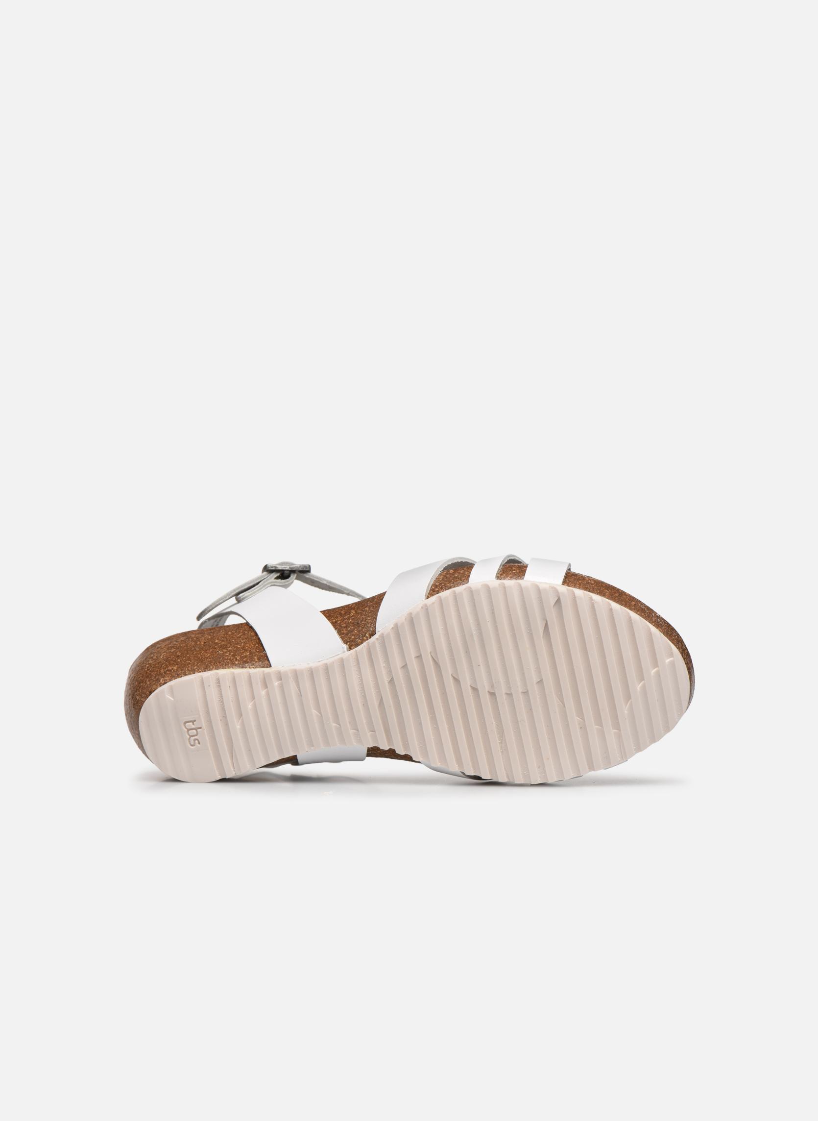 Sandales et nu-pieds TBS Sabinne Blanc vue haut