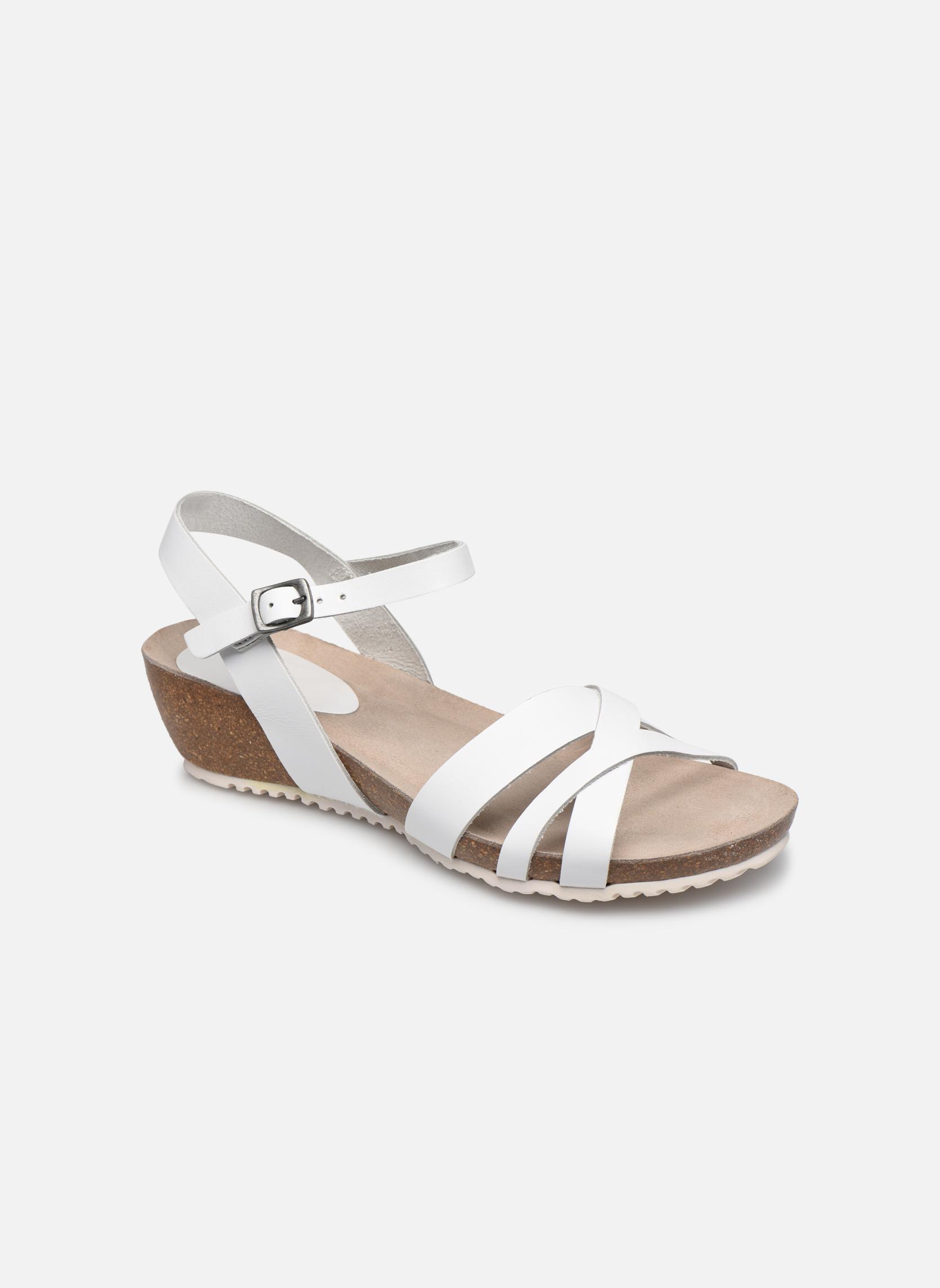 Sandales et nu-pieds TBS Sabinne Blanc vue détail/paire