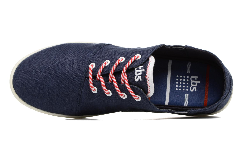 Chaussures à lacets TBS Teodora Bleu vue gauche