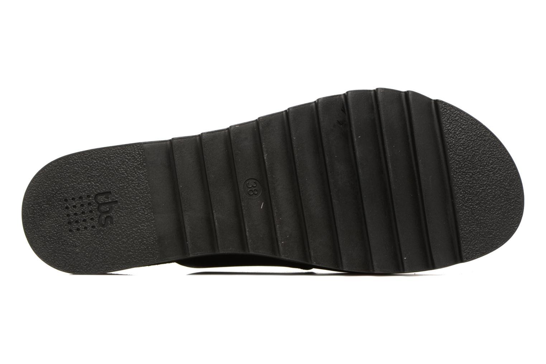 Sandales et nu-pieds TBS Typhenn Noir vue haut