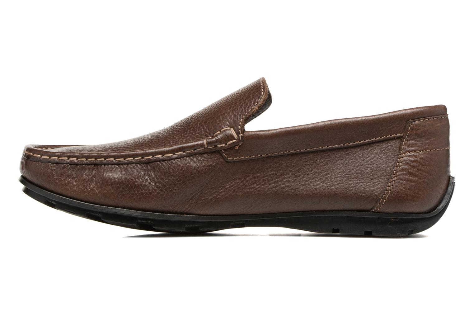 Mocassins TBS Sauric Marron vue face