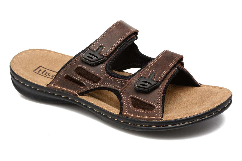 Sandales et nu-pieds TBS Easy Walk Brokey Marron vue détail/paire