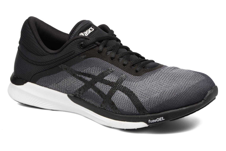 Sport shoes Asics Fuzex Rush Black detailed view/ Pair view