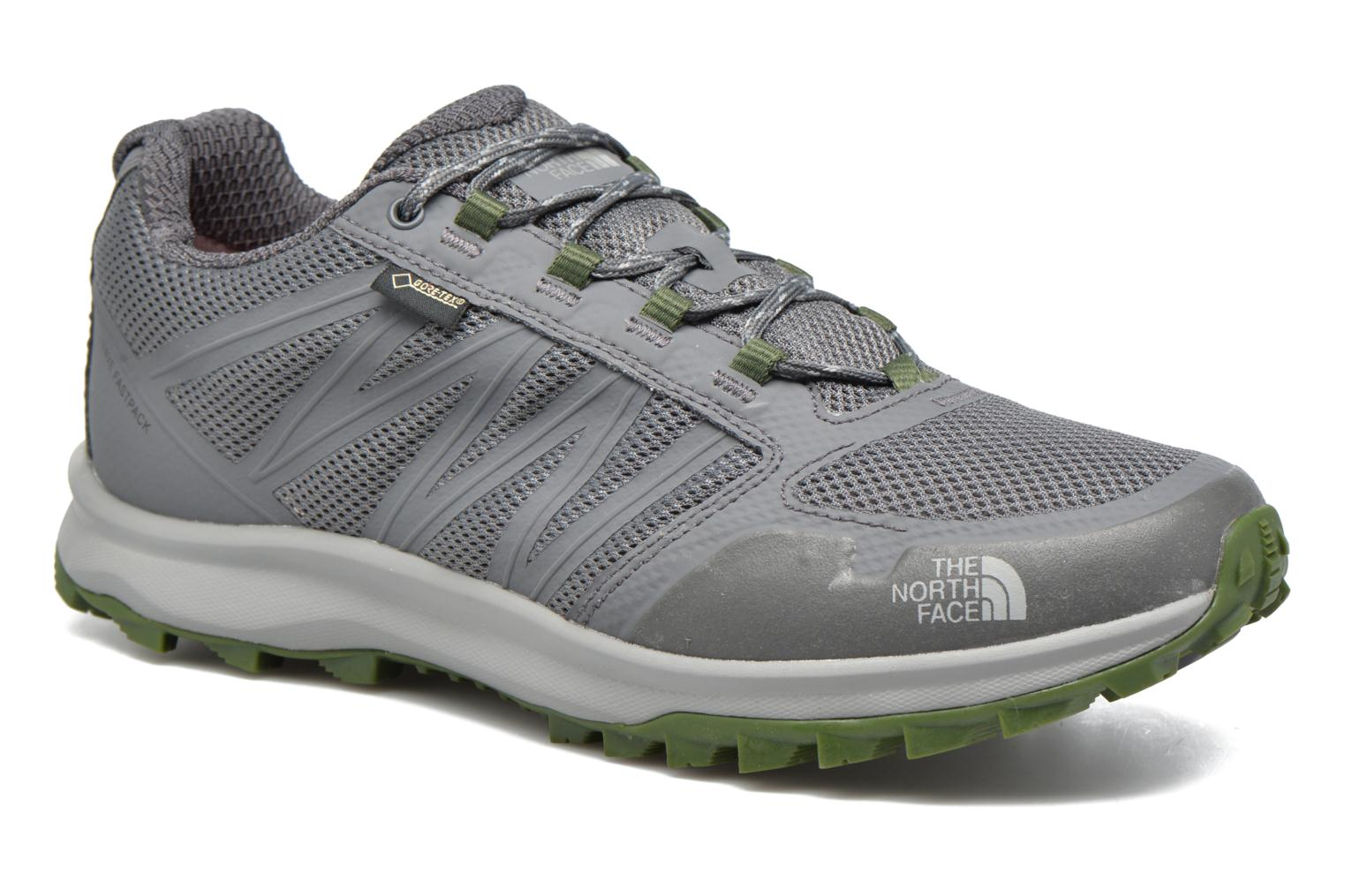 Factory Sale The North Face Litewave Fastpack GTX Grey Sport shoes 292768 Mens zinc grey / scallion green The North Face Mens Sneakers