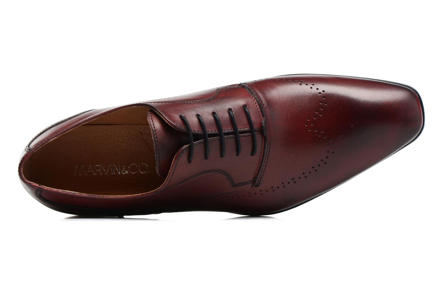 Veterschoenen Marvin&Co Romford Bordeaux links