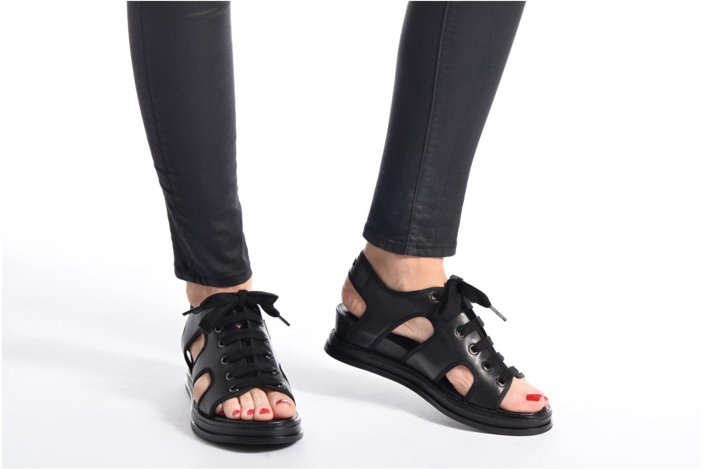 Sandales et nu-pieds Opening Ceremony Idha Wedge Noir vue bas / vue portée sac