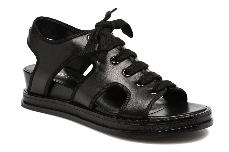 Sandales et nu-pieds Opening Ceremony Idha Wedge Noir vue détail/paire