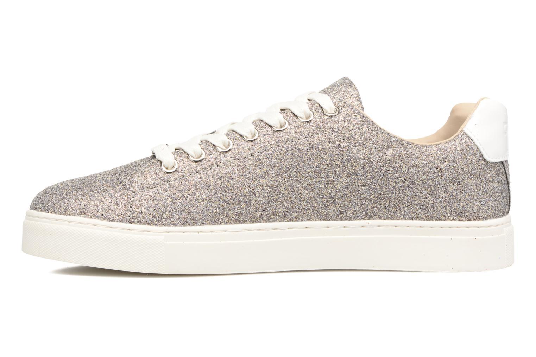 Sneakers ONLY Suzy Glitter Sneaker Zilver voorkant