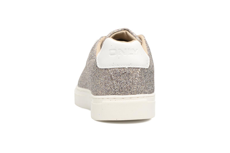 Baskets ONLY Suzy Glitter Sneaker Argent vue droite