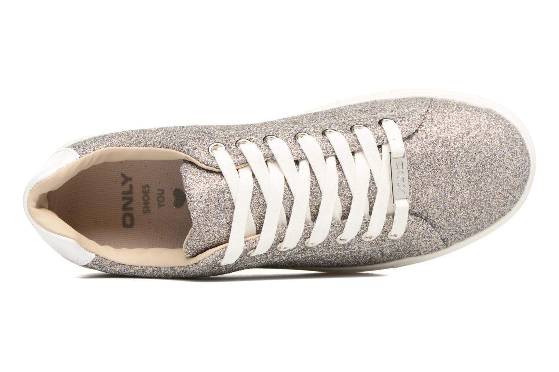 Sneakers ONLY Suzy Glitter Sneaker Zilver links