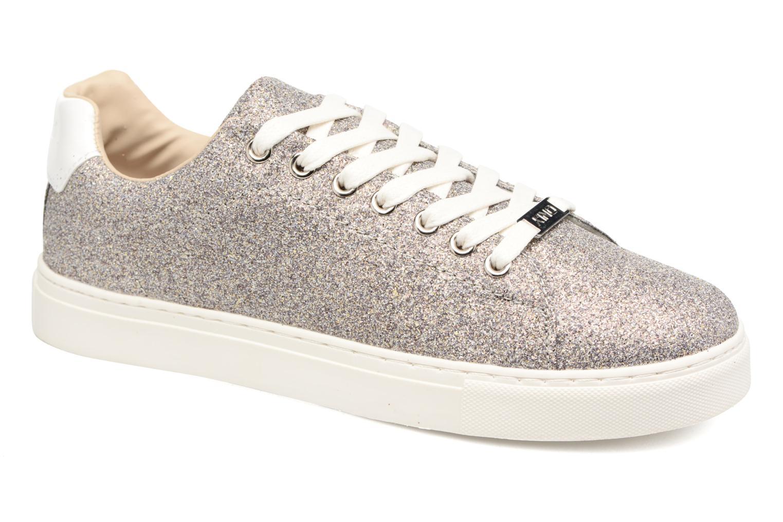 Baskets ONLY Suzy Glitter Sneaker Argent vue détail/paire