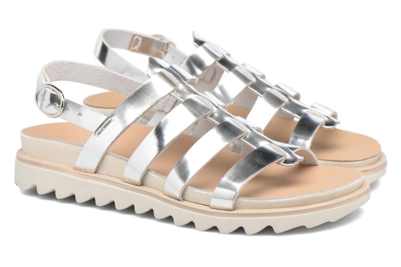 Sandales et nu-pieds Made by SARENZA Pastel Belle #13 Argent vue derrière