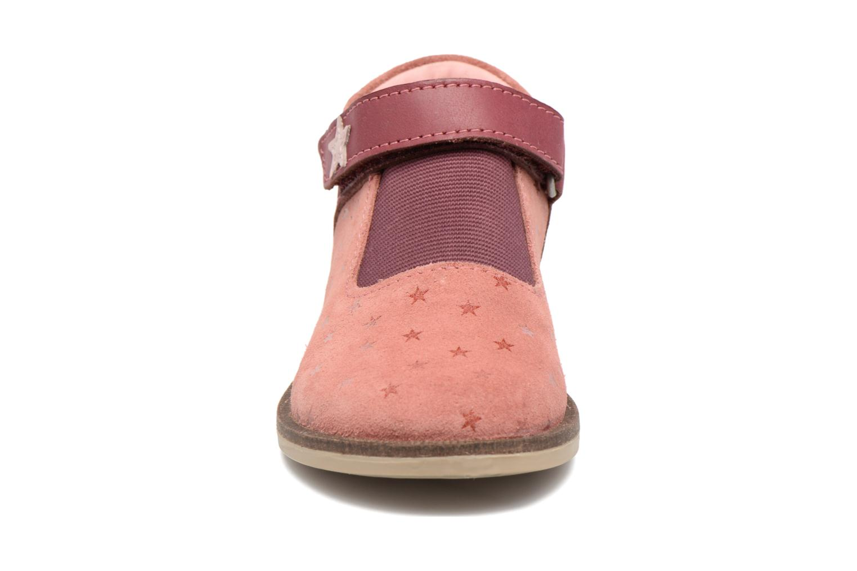 Chaussures à scratch Kickers Moly Rose vue portées chaussures