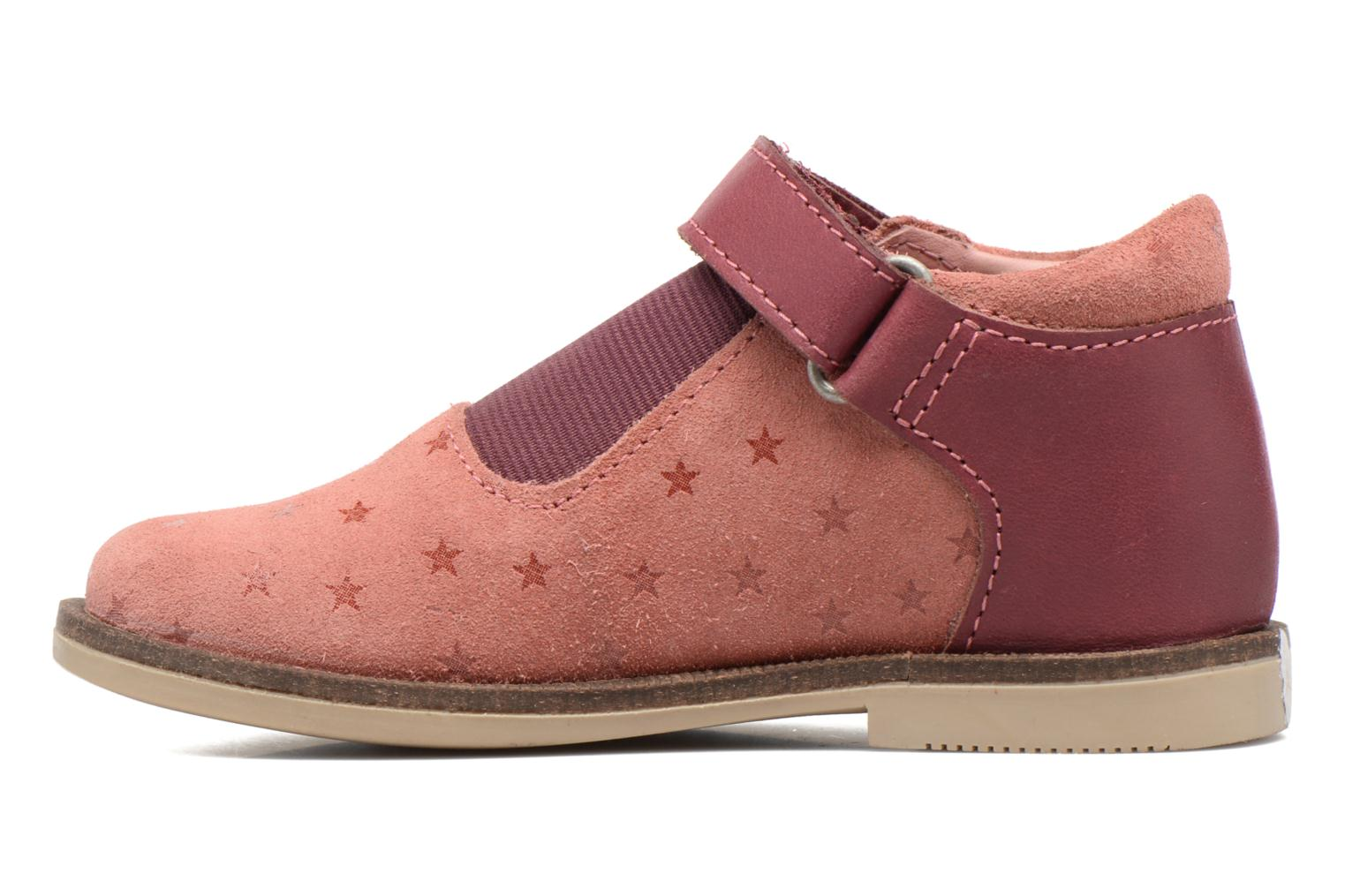 Chaussures à scratch Kickers Moly Rose vue face