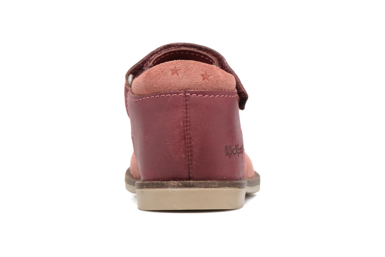 Chaussures à scratch Kickers Moly Rose vue droite