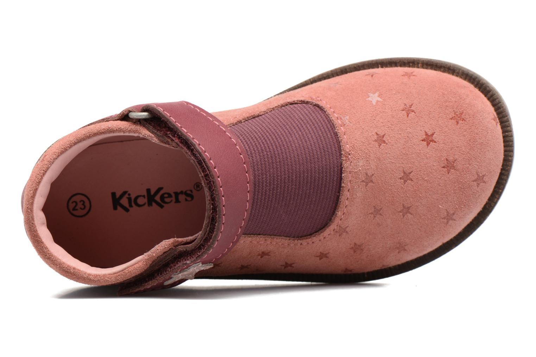 Chaussures à scratch Kickers Moly Rose vue gauche